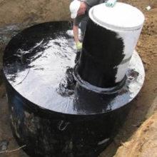 Строительство сливной ямы из бетонных колец при высоком УГВ