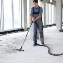 Как обеспыливаются полы из бетона?