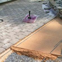 Монтаж тротуарной плитки на бетон своими руками