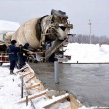 При какой температуре лучше заливать бетонный раствор?