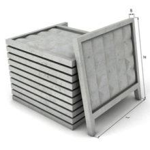 Секционные сборные заборы и ограды из бетона