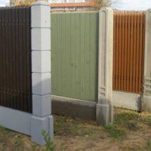 Столбы и блоки из бетона для установки заборов