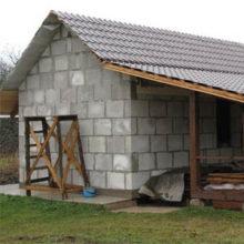 Постройка и теплоизоляция газобетонной бани от фундамента до крыши
