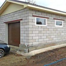 Как построить гараж из пенобетонных блоков?