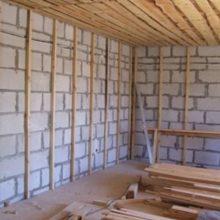 Варианты отделки газобетонных стен изнутри
