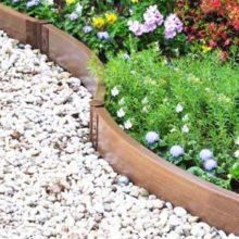 Из чего можно сделать садовый бордюр для дорожки?