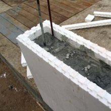 Несъемная опалубочная конструкция для заливки фундамента
