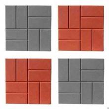 Плитка для тротуара с рисунком 8 кирпичей размером 400х400х50 и 400х400х40 мм