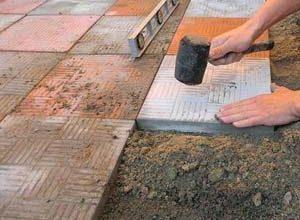Инструкция по мощению тротуарной плитки своими силами
