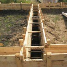 Определяем количество бетона для заливки фундаментной ленты