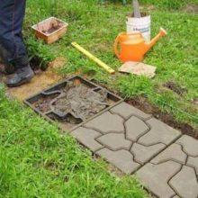 Руководство по изготовлению плитки для тротуара своими силами