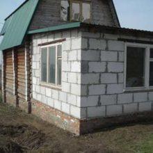Строительство по шагам пристройки к пенобетонному дому