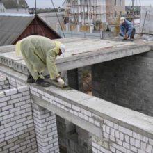 Какой толщины должна быть монолитная плита перекрытия в многоэтажном доме?