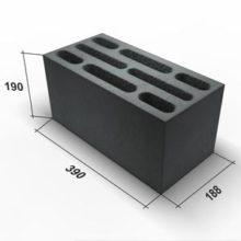 Технические параметры, размеры и вес керамзитобетонных блоков