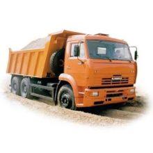 Количество кубометров песка и щебня в самосвале КамАЗ