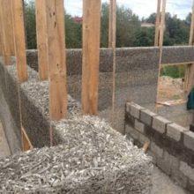 Строительство монолитных домов из арболита