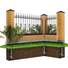 Инструкция по возведению фундамента под забор со столбами из кирпича